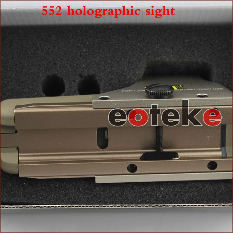 Visores telescópicos tácticos 552 Ojo holográfico Reflejo del alcance del punto rojo para la caza para picatinny 20mm montaje en carril