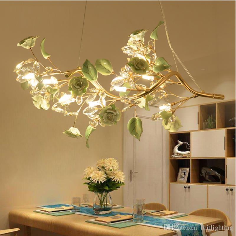 led restaurant lamp crystal restaurant pendant light modern
