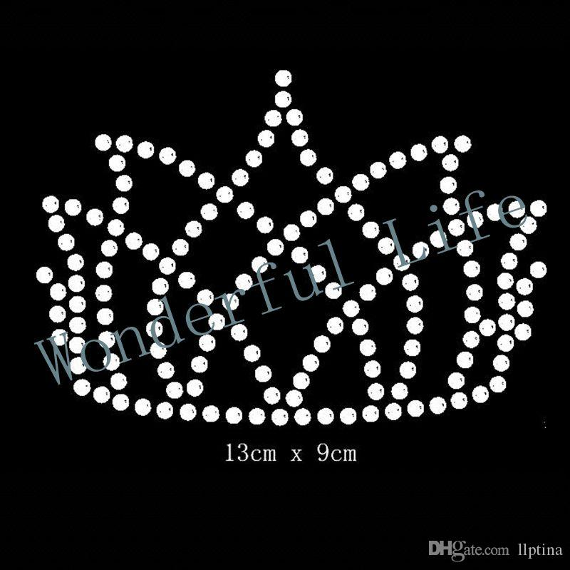 crown hotfix Rhinestone Motif Transfer in nice Design for clothing wholse made in best factory