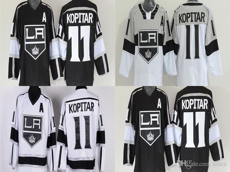 low priced ab386 bcc72 Hot Sale Cheap LA 11 Anze Kopitar Jersey Los Angeles Kings Hockey Jerseys  2014 Stadium Series Black White Anze Kopitar Ice Hockey Jersey