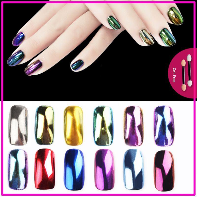 Nail Glitter Mirror Powder Chrome Dust Nail Art Pigment Manicure ...
