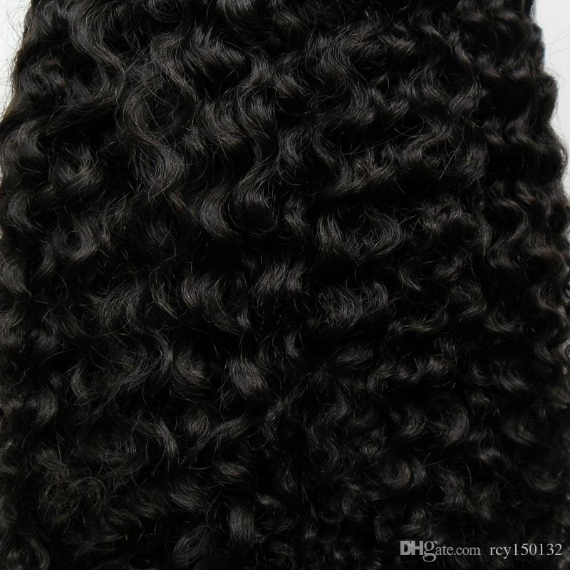 المنغولية غريب مجعد الشعر حلقة صغيرة الشعر الإنسان 200G من # 1 جيت الأسود غريب حلقة صغيرة مجعد الشعر