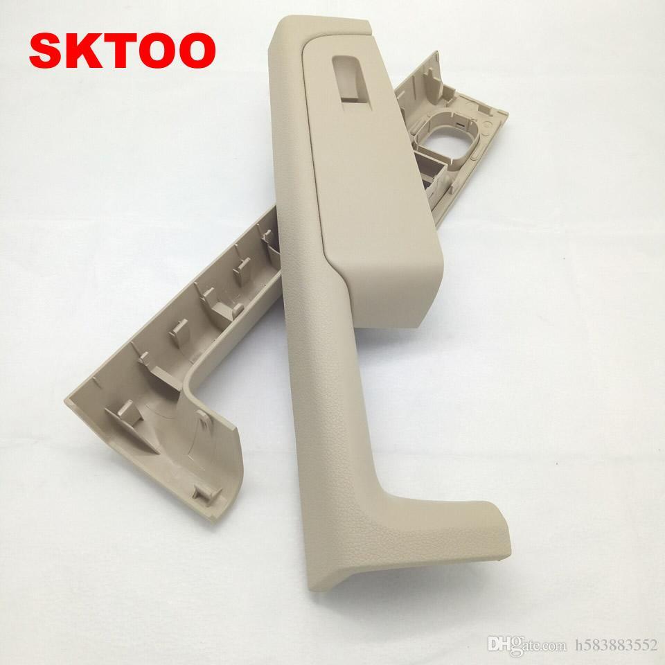 Para Skoda Superb puerta manija delantera izquierda y derecha puerta apoyabrazos caja interior manija marco, la caja de interruptor de levantador Beige
