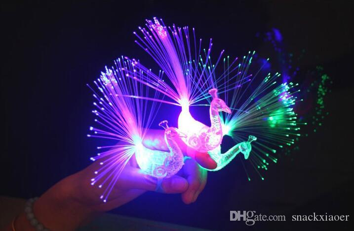 Gli indicatori luminosi di barretta della fibra ottica del lampone del LED del LED di TRASPORTO LIBERO Anelli i ravi o il favore di partito