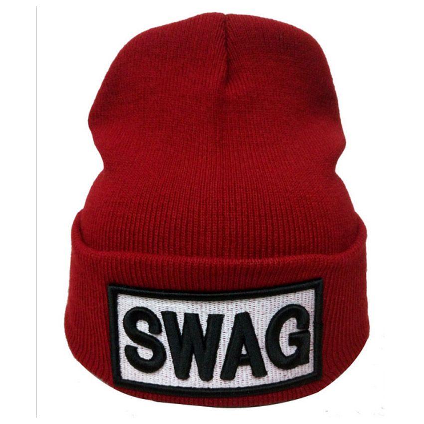 High Elastic Adult Beanie SWAG Letter Warm Hats Winter Casual Warm Beanie  Hip Hop Supports 3D Embroidery Your Brand LOGO Caps Baseball Cap Slouchy  Beanie ... e58de149fee