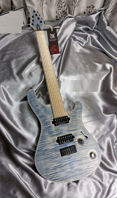 wholesale mayones guitar mayones regius 7 blue electric guitar 7 string neck through guitar. Black Bedroom Furniture Sets. Home Design Ideas