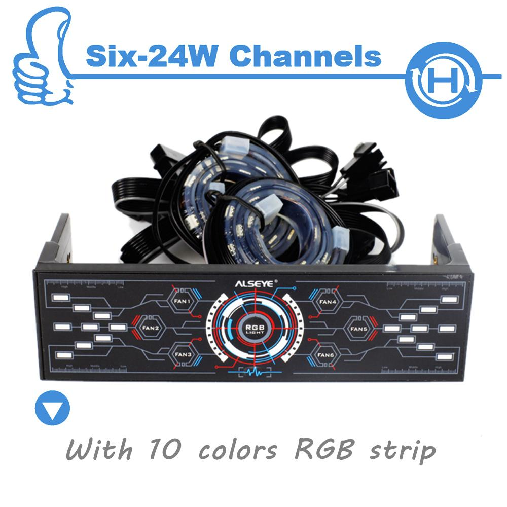 Cheaper computer - 2017 Wholesale Alseye 6 Channels Computer Fan Controller With Dual Rgb Strips Wholesale For Agents More Quantity More Cheaper From Moncia02