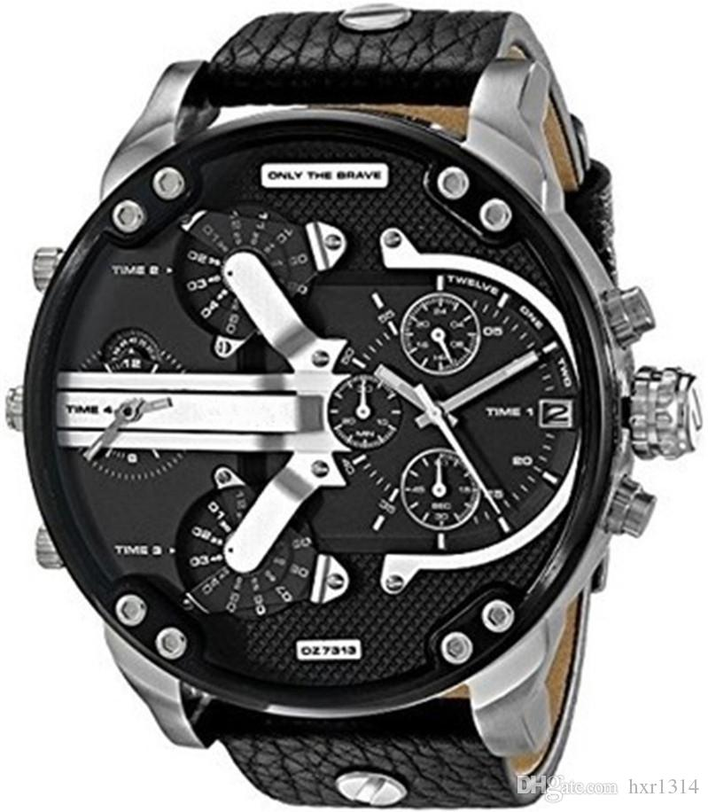 e8a0e20ddfeb Compre Relojes Deportivos Para Hombres Reloj De Pulsera De Cuero Top Marca  De Lujo Males Cronógrafo Reloj De Cuarzo Relojes De Pulsera Para Niño A   17.26 ...