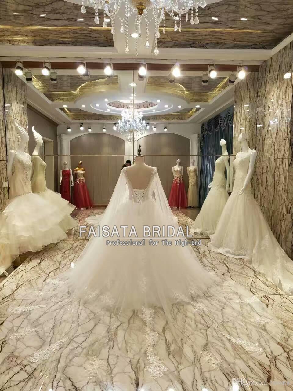Luxury Full Designer Bridal Dresses Beades Lace Wedding Dress Long ...