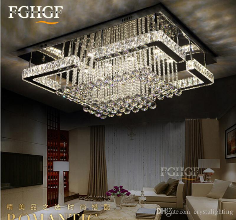 Großhandel Neuer Entwurf Led Kronleuchter Deckenlicht Luxuxkristalllampe  Moderne Deckenbeleuchtung Led Leuchte Plafonnier Für Wohnzimmer Von  Crystalighting, ...