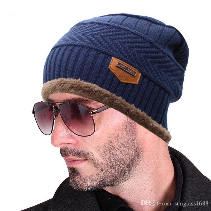 2016 Brand Beanies Knit Men S Winter Hat Caps Skullies Bonnet Winter Hats  For Men Women Beanie Fur Warm Baggy Wool Knitted Hat Bucket Hats Bucket Hat  From ... f6a45066116