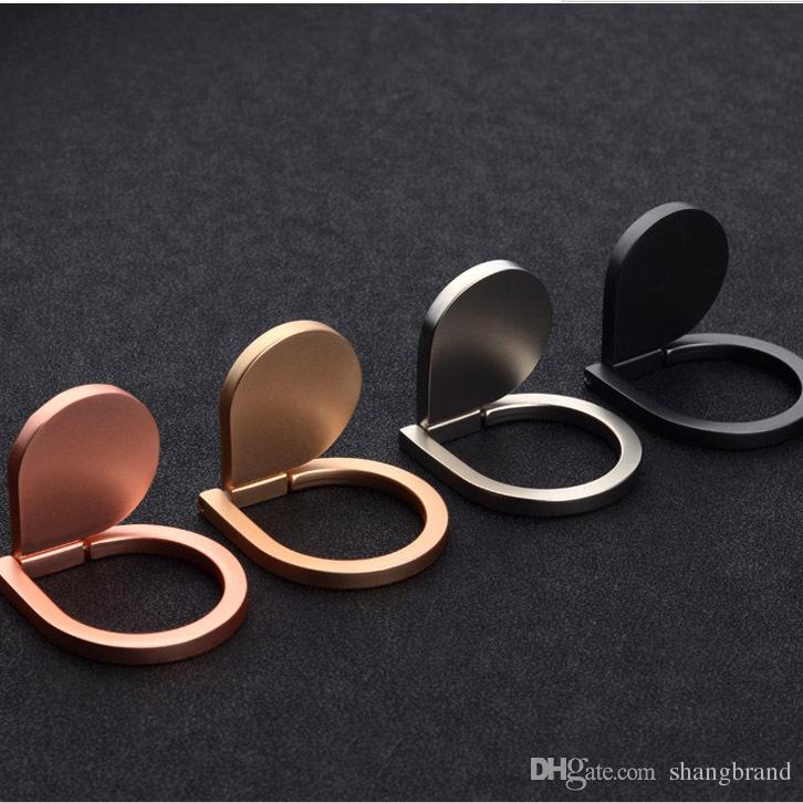 Soporte de metal para colocar el anillo de la gota de agua Anillo para teléfono móvil Soporte 360 ° Spinner Soporte universal de metal para I6 I7 Galaxy S8 S8edge S7edge Note8