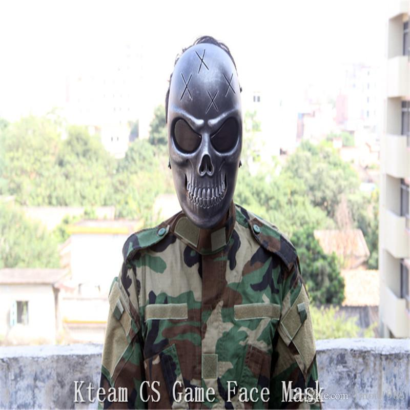 CS Skull Skeleton Full Face Tactical Paintball Protect Safety Horror Mask Halloween Cosplay Dress Mask Jagged horror props