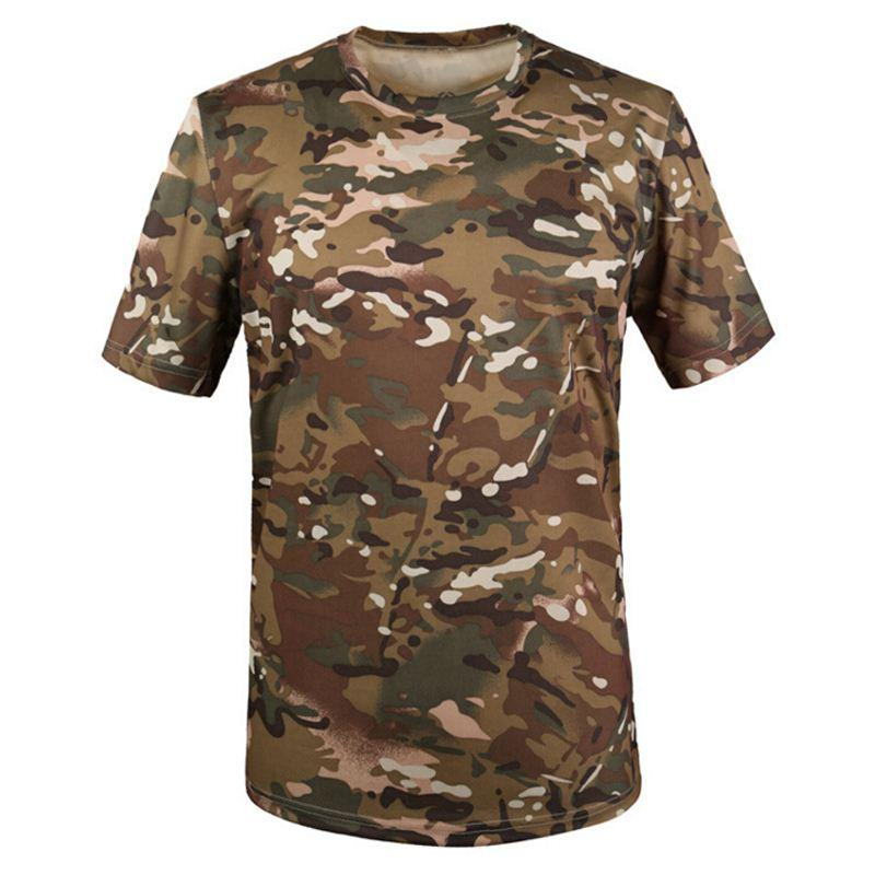 Camouflage breathable t shirt army outdoortactical for Military t shirt companies