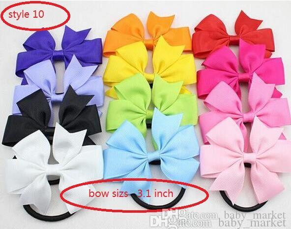 10 Стиль Доступно 30 шт. Детская шпилька бутик-девочка ленты бантики Щевья зажимы Barketes Girl Butterfly HairGrip Детские аксессуары для волос подарок