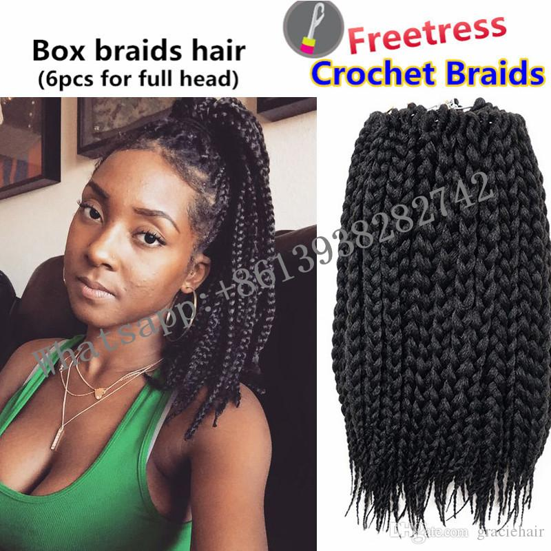 charming sassy girls box braids hair extension 14inch crochet braids tresse crochet twist box. Black Bedroom Furniture Sets. Home Design Ideas