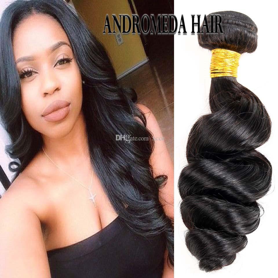 Peruvian Human Hair Loose Weave Hair Bundles Natural Color