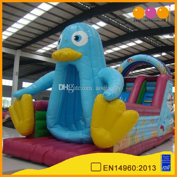 2017 aoqi 2017 new design penguin cartoon inflatable pool slide inflatable playground game kid toys for sale from aoqisally 374473 dhgatecom