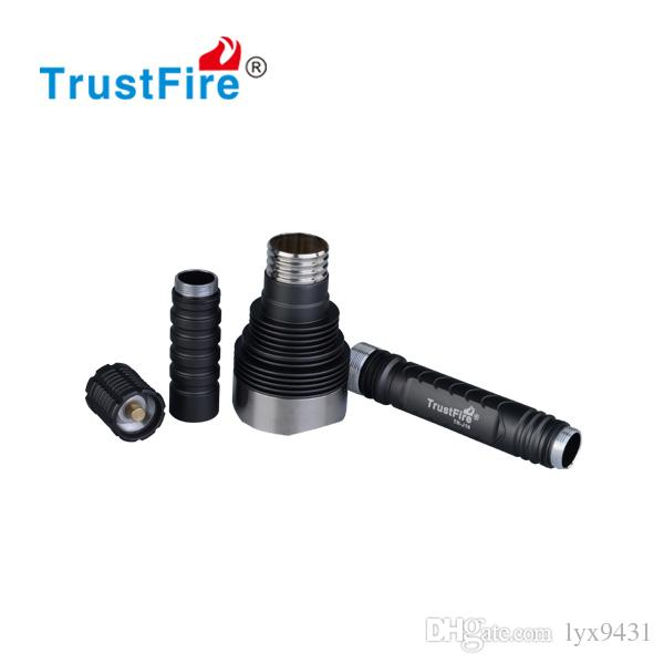 LED Lamp Super Bright High Power LED Flashlight Stainless Steel Head Torchlight 18650 Rechargeable Battery Flash Light Camping Hunting Torch
