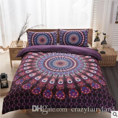 Printed Bedding Sets Geometric Quilt Cover Pillow Case Pillow Slip Sets  36 Bedding For Girls Queen Comforter Set From Crazyfairyland   30 44   Dhgate Com. Bohemia Bedding Sets 2017 New Luxury King Size Peacocks Elephant