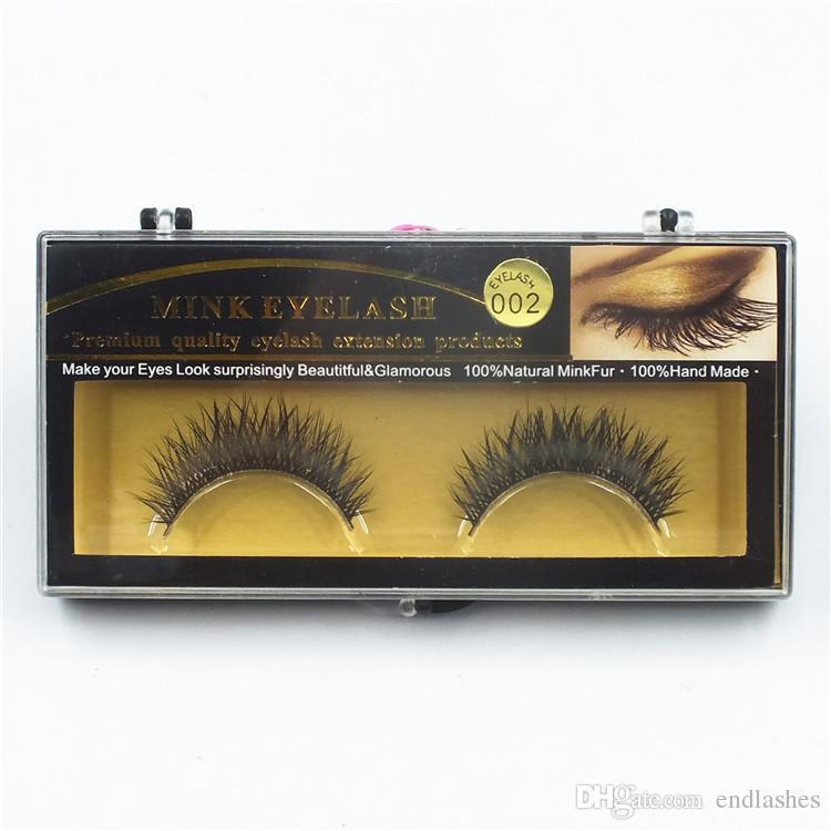 19 Stilleri 1 Çift Premium Kalite Yanlış Kirpik El Yapımı Gerçek Vizon Saç Kürk Kirpik Yumuşak Sahte Göz Kirpik Uzatma Tam Şerit Lashes