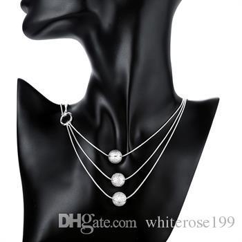 Wholesale  - 小売価格クリスマスギフト925シルバーファッションジュエリー送料無料ネックレスN09