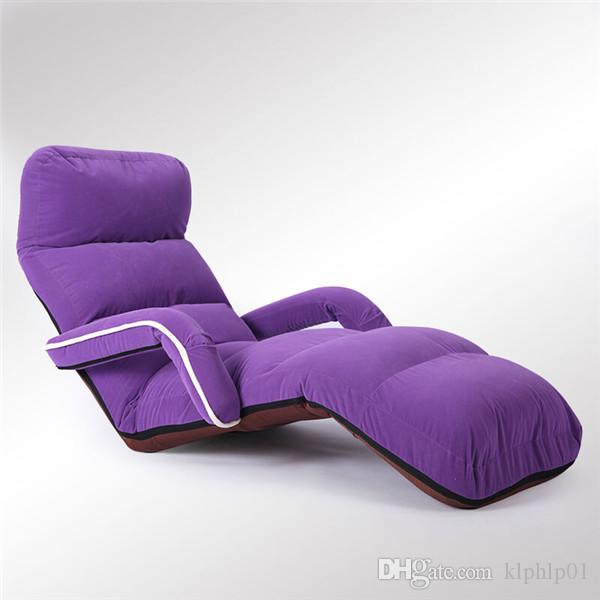 Plancher confortable pliant canapé chaise longue fauteuil salon meubles moderne tapissé rembourré Daybed canapé-lit inclinable