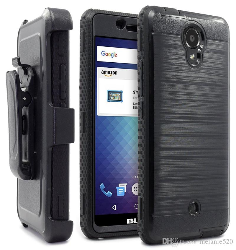 the latest 963f3 097fd BLU Phone cases full protect fibre Cover TPU PC Armor Case with stand clip  for R1 HD