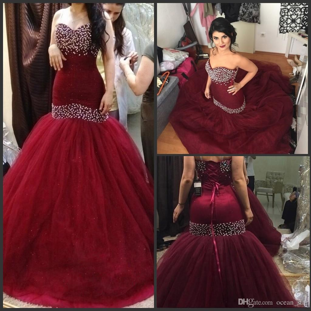 Formal Dresses In Memphis Tn: Sparkly Burgundy Evening Dresses Backless Formal Prom
