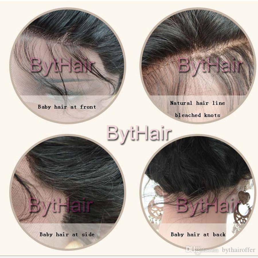 Bythair Curly Full Lace Human Hair Wigs With Baby Hairs Pre Plucked Natural Hairline Natural Wave Lace Front Wig Bleached Knots