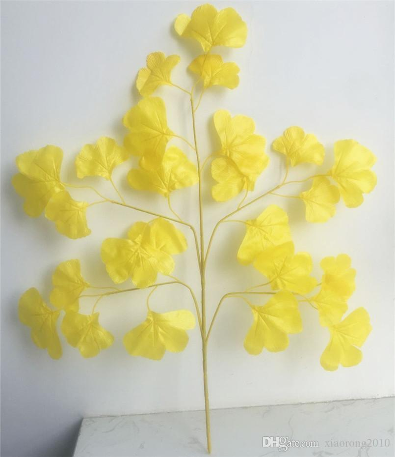 2018 silk ginkgo leaf plant rattan 70cm 27 56 length artificial