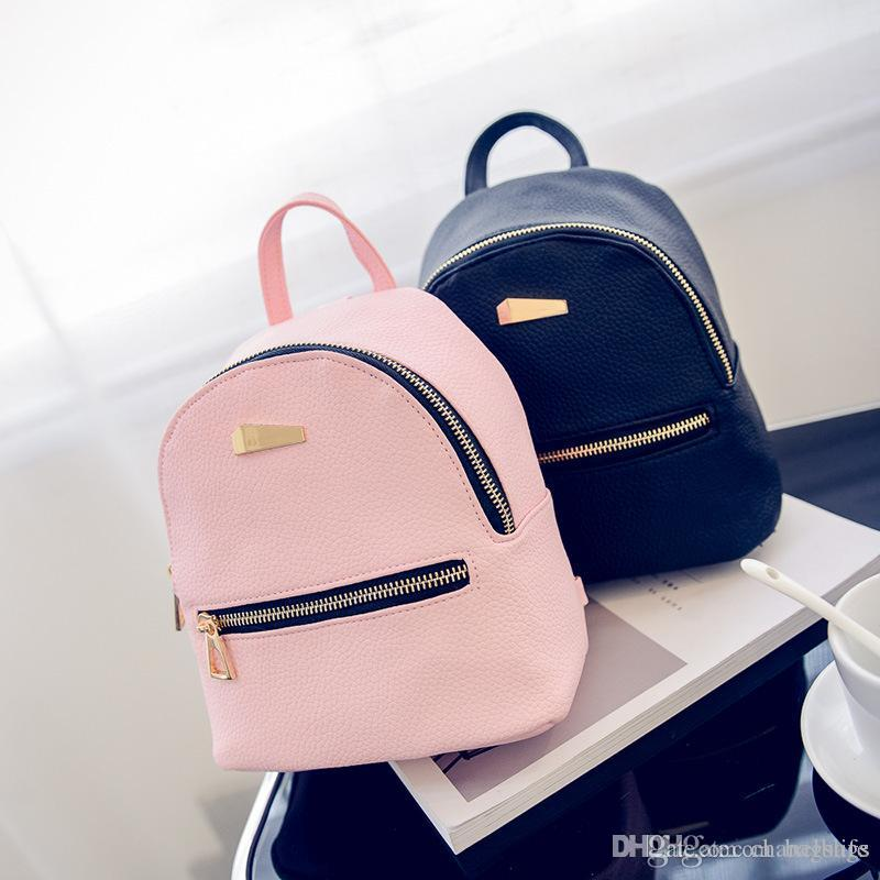 Fashion Girls Women Mini Backpack Schoolbag Cute Small Backpack High  Quality Leather Female Backpacks For Teenage Girls Rucksack Wholesale Messenger  Bags ... 2906fad262b3b