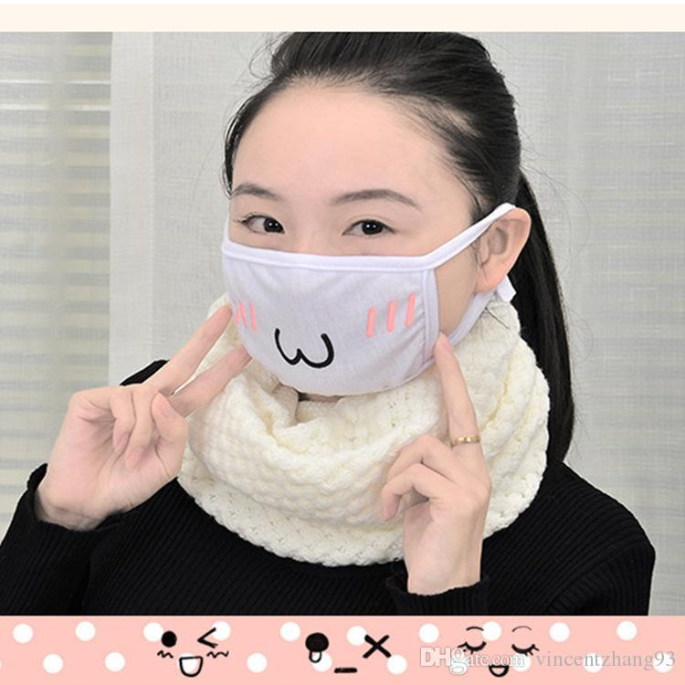 Cute Kawaii Anime Kaomoji-kun Emotiction mouth-muffle Winter Cotton Funny Mouth Anti-Dust Face Masks