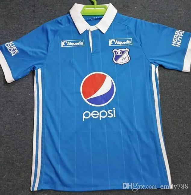 9fd941d58 Long SleeveRetailJerseyColombia Branches 2017 Millonarios Jerseys Home  Millonarios Soccer Jersey Colombia League Football Shirts Camisetas De  Futbol ...