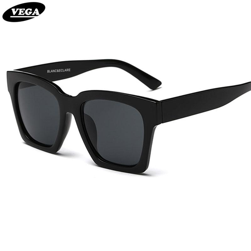 2443838492 Wholesale VEGA 2017 Trendy Big Black Sunglasses Unisex Square Hipster  Glasses Vintage Goggles Womens Mens Shades UV400 FSK1 Sunglasses Online  Sunglasses ...