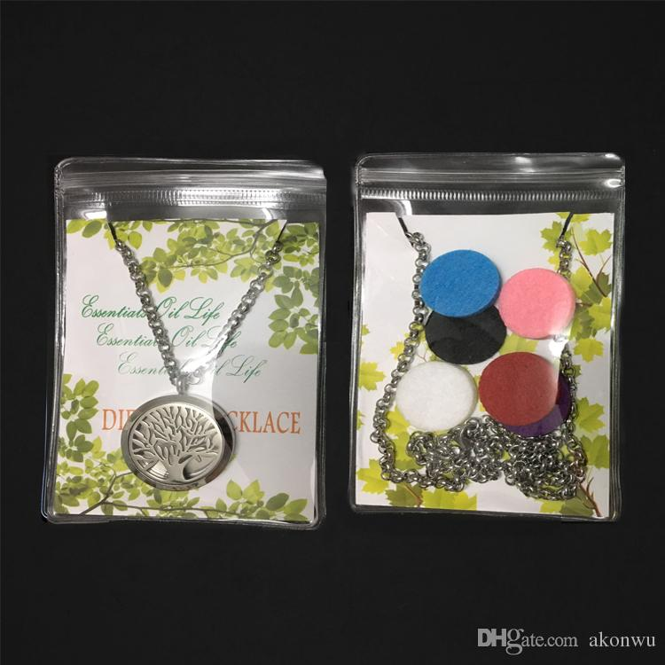 Aroma Jewelry 30mm Perfume Locket 316L Stainless Steel Essential Oil Aromatherapy Diffuser Locket Pendant Send Chain Felt Pad WS8