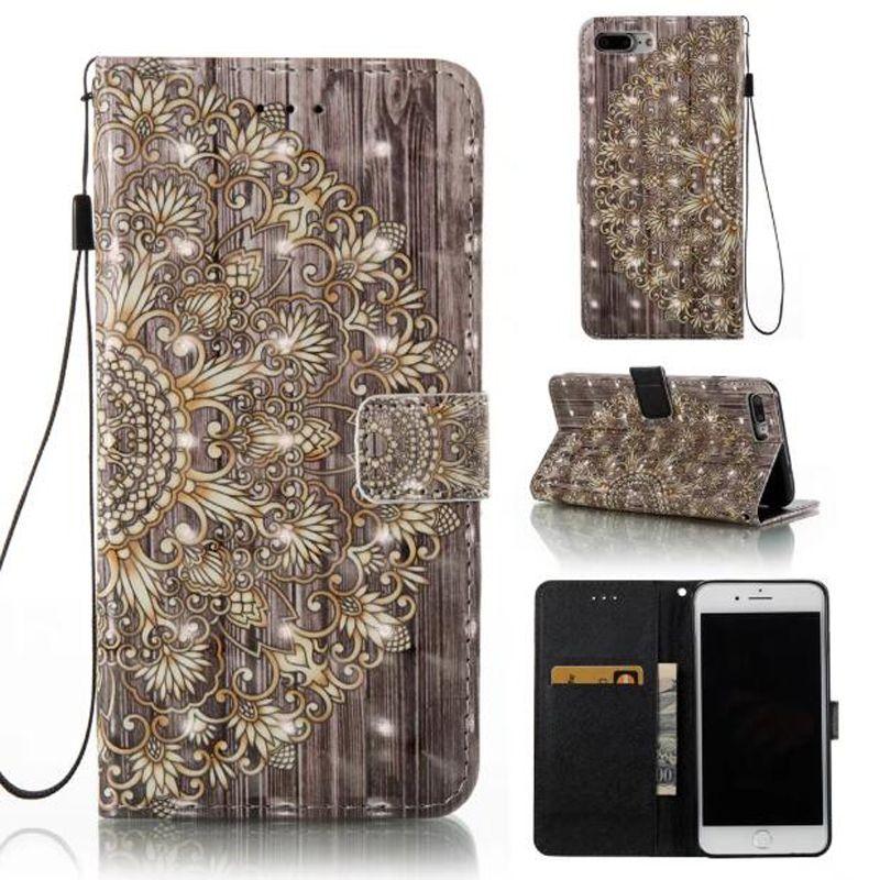 3D couro pu moda amigo dream catcher case para iphone 7 plus 6 6 s 5S se galaxy s8 além de s7 borda