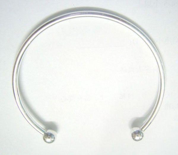 DIY 공예 패션 보석 선물을위한 / 실버 도금 팔찌 팔찌 7.6inch C15