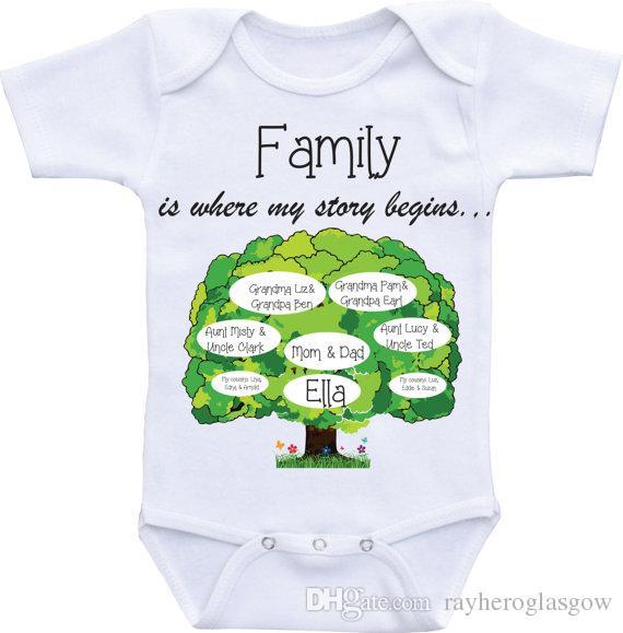 2018 family tree onesies unique baby onesie personalized custom