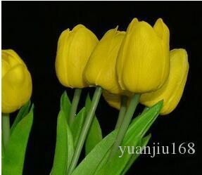 ПУ моделирование цветок чувствовать себя один поддельный цветок тюльпан 100 шт. / лот