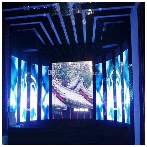 floorprice 2017 couleur polychrome intérieure LED panneau d'affichage vidéo panneau d'affichage - programme rapide par câble Ethernet