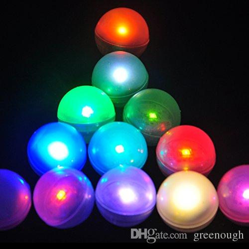 2017 christmas light submersible ligh led pearls waterproof floating small battery lights led glowing balls magical party decoration lights from greenough - Christmas Light Ball