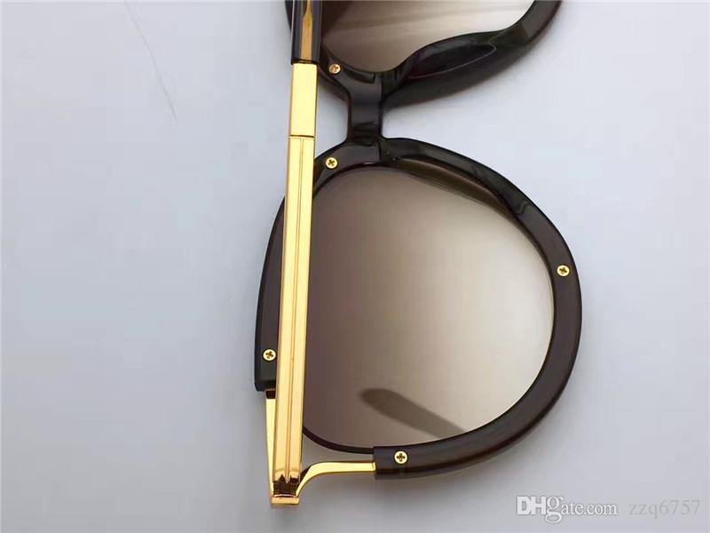 Verkaufsart CL688 Katzenaugeplatte und Metallkombination der hohlen Rahmenqualität Designerbrandungssonnenbrille Anti-UVschutzgläser