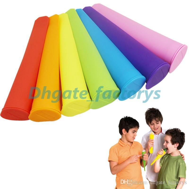 Colorful Silicone Push Up Ice Cream Jelly Lolly Pop Maker Popsicle Mould Mold DHL