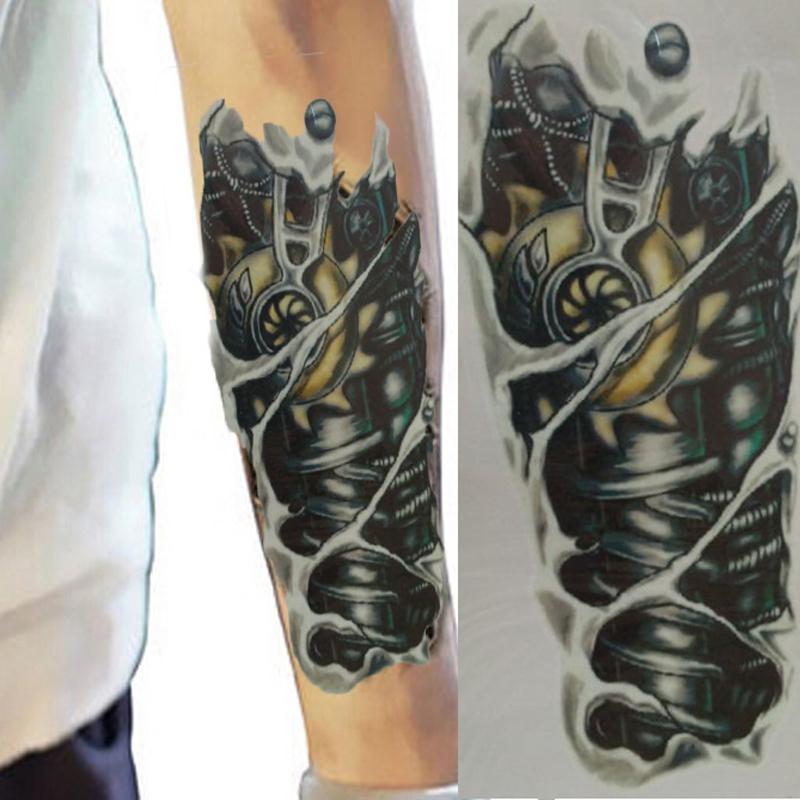 Al Por Mayor 3d Tatuaje Manga Falsa Impermeable Tatuajes Temporales