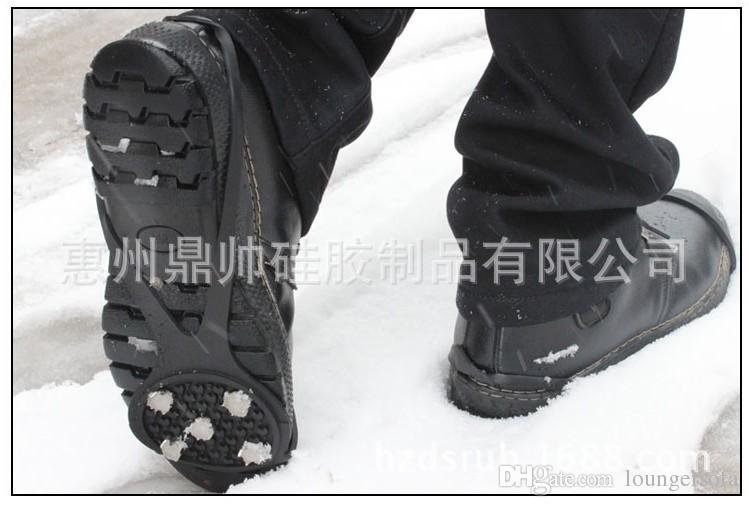 Crampons de montanhismo Ice Catch Proteção Contra Garra de Neve Anti-skid Crampon Alta Tensão Gel De Sílica De Borracha Não-slip Sapato Capa 5 5 hz1