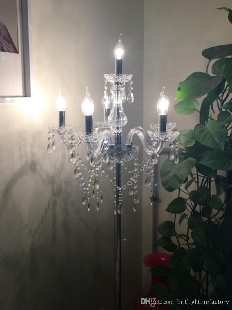 Moderna lampada da terra di cristallo di lusso moda creativa lampade da terra soggiorno camera da letto lampada da terra modello camera club luce nuova offerta speciale