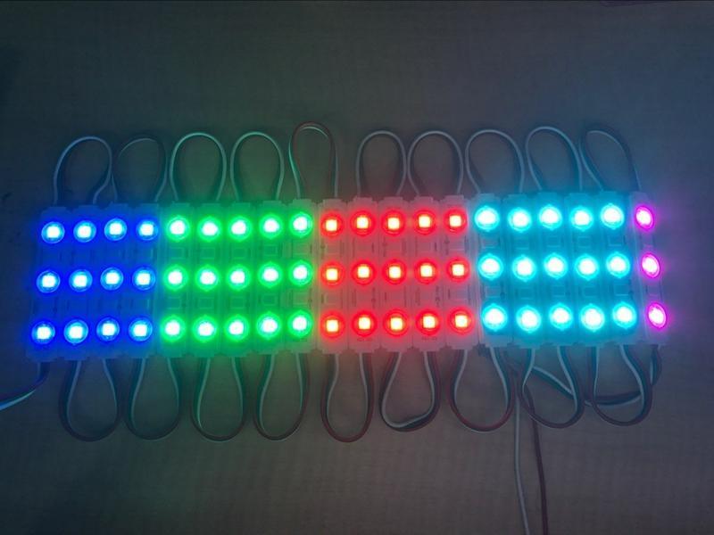 Edison2011 WS2811 SMD 5050 3 moduli LED Moduli lenti ad iniezione Colore magico 64 Modalità che cambiano Nave libera impermeabile
