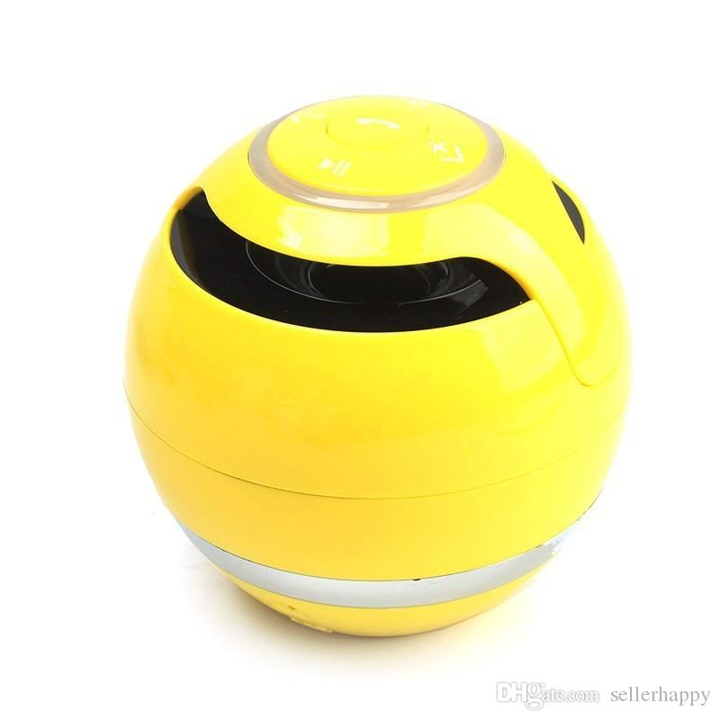 YST-175 Mini colorful Ball Portable Bluetooth Wireless speakers Super Bass Stereo Handsfree subwoofer Mic TF Card LED Light