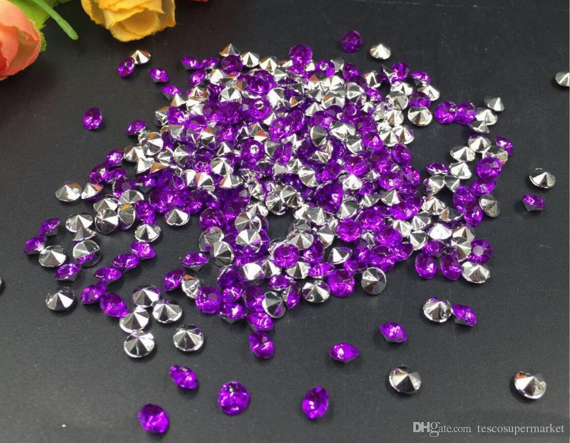 4mm Mixte Acrylique Diamant Confetti Table De Fête De Mariage Scatters Cristal Décoration